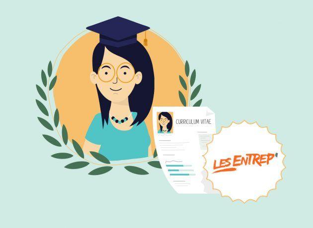 Jeunes diplômés Les Entrep' infographie promo 2020