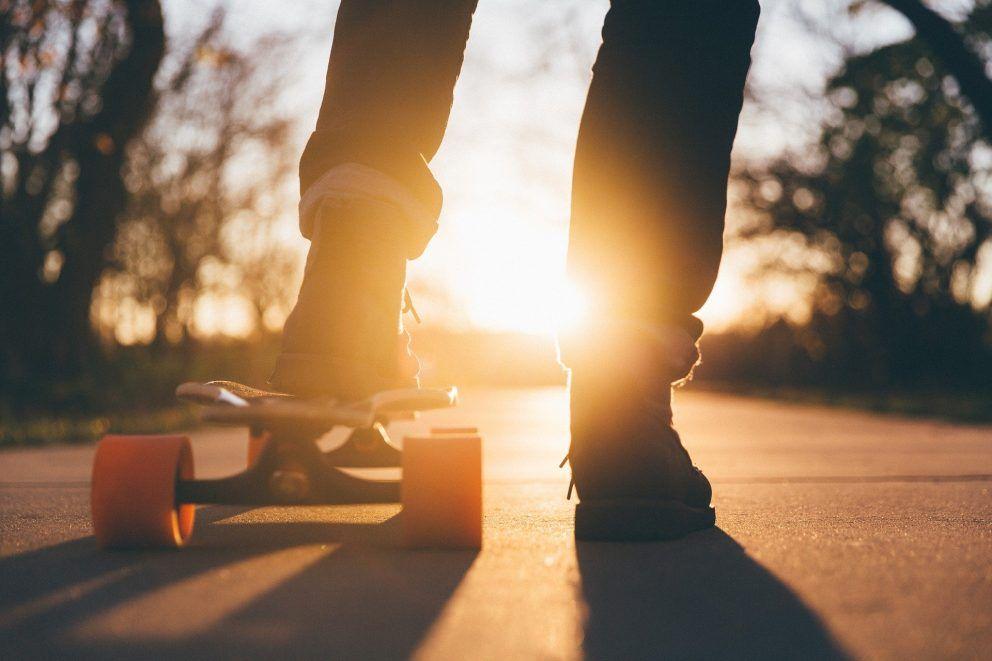 Out skatboarding Zoé pellan les Entrep'